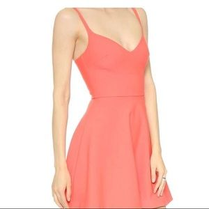 Elizabeth and James Fit and Flare Coral Dress Sz 4